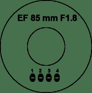 ef 85 mm F1.8 soldering pads