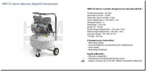 HBM 25 kompresszor